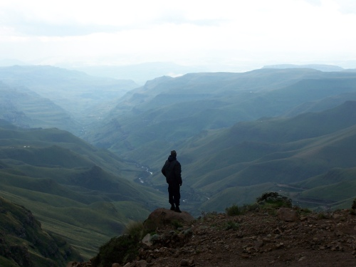View of Sani Pass from above