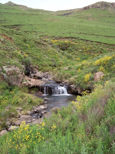 Waterfall, Mountain Road, Lesotho