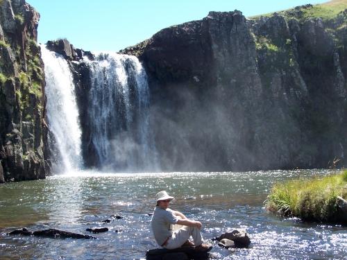 Tsoelikana waterfall at Sehlabathebe Lesotho