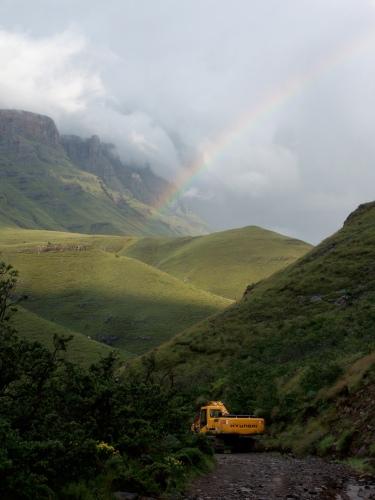 Rainbow at Sani Pass